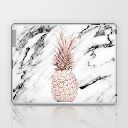 Pineapple Rose Gold Marble Laptop & iPad Skin