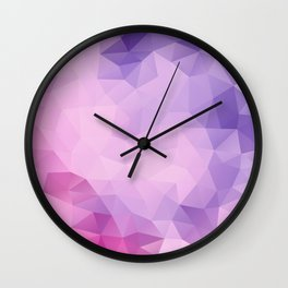 Triangles design in pink and purple colors Wall Clock