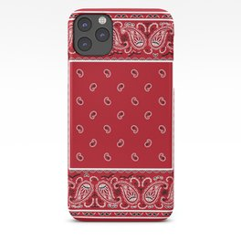 Classic Red Bandana iPhone Case