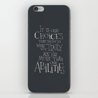 "dumbledore iPhone & iPod Skins featuring Harry Potter - Albus Dumbledore quote ""It is our choices"" by SimpleSerene"