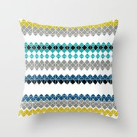 golf Throw Pillows featuring Golf by Simi Design