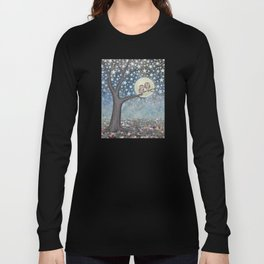 northern saw whet owls under the stars Long Sleeve T-shirt