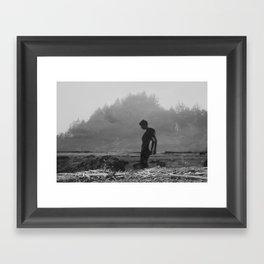 Whaleshead Beach Self Portrait II Framed Art Print