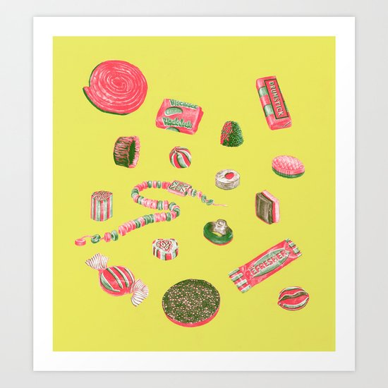 Old Fashioned Boiled Sweets by Chrissy Curtin Art Print