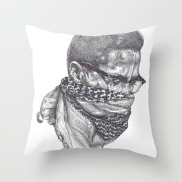 Malcolm Little Throw Pillow