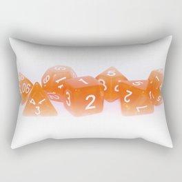 Orange Gaming Dice Rectangular Pillow