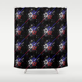 Stars and Stripes Pattern Shower Curtain