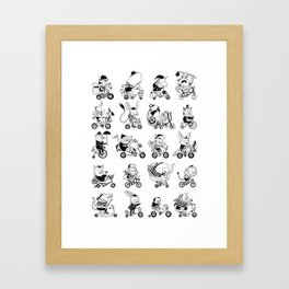 Animals Bicylcle Club Framed Art Print