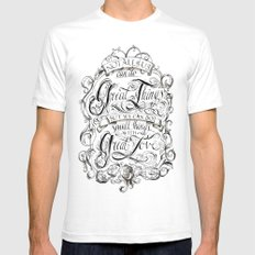 Great Love White SMALL Mens Fitted Tee
