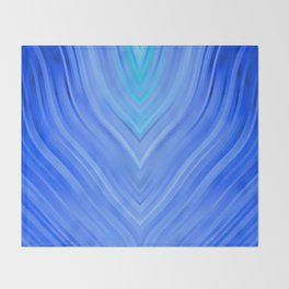 stripes wave pattern 3 c80 Throw Blanket