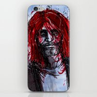 kurt cobain iPhone & iPod Skins featuring Kurt by Stewart Cook