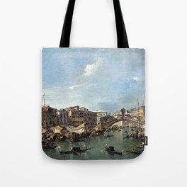 Francesco Guardi Grand Canal with the Rialto Bridge, Venice Tote Bag