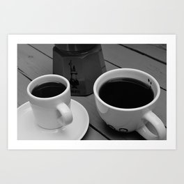 Coffe for two Art Print