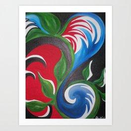 RedBlackBlueWaves Art Print