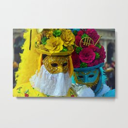 Carnevale of Venice Italy - Masquerade Mask Metal Print