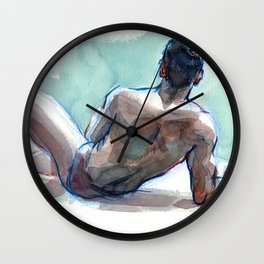 MICHAEL, Semi-Nude Male by Frank-Joseph Wall Clock
