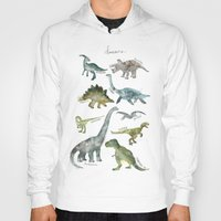 dinosaurs Hoodies featuring Dinosaurs by Amy Hamilton