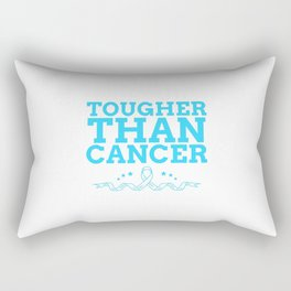 quote in support of cancer survivors Rectangular Pillow
