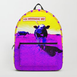Psychedelic Cows Backpack
