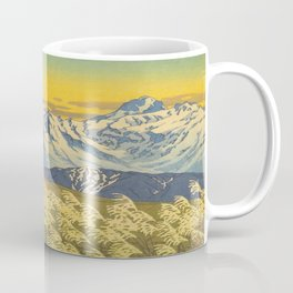 Kawase Hasui Japanese Woodblock Print Shin-hanga Ukiyo-e Landscape, Mountain  1946-1957 Coffee Mug