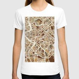 Rome Italy Street Map T-shirt