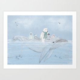 an arctic journey Art Print