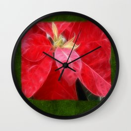 Mottled Red Poinsettia 2 Blank P1F0 Wall Clock