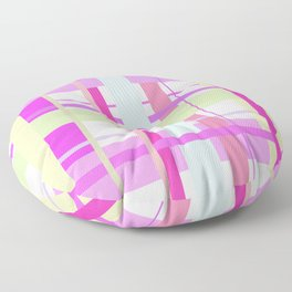 Spring Tartan - cool pink pattern Floor Pillow