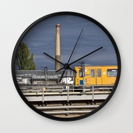 Yellow Train - Berlin Wall Clock