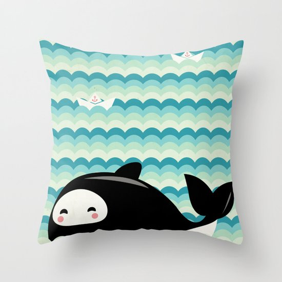 Where's Willy? Throw Pillow