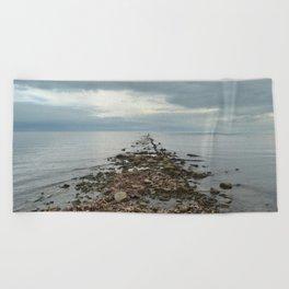Pier Remnants Beach Towel
