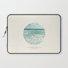 Christopher Columbus Quote Laptop Sleeve