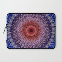 Blue, lilac and orange mandala Laptop Sleeve