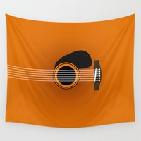 guitar Wall Tapestries featuring guitar music  by mark ashkenazi