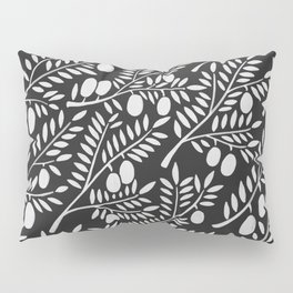 White Olive Branches Pillow Sham