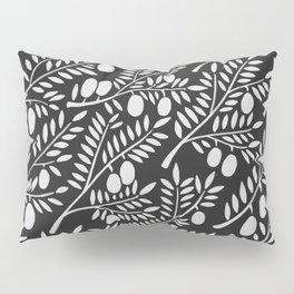 White Olive Branches Pillow Sham