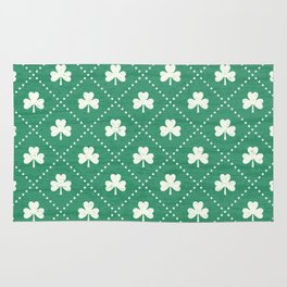 SHAMROCK ON! - emerald Rug