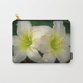 Glowing white daylily flowers - Hemerocallis Indy Seductress Carry-All Pouch