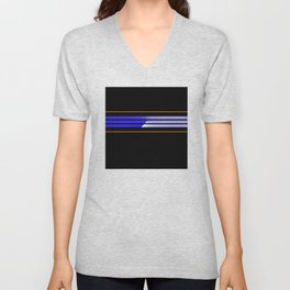 Team Colors 5 ,,,Blue,orange Unisex V-Neck