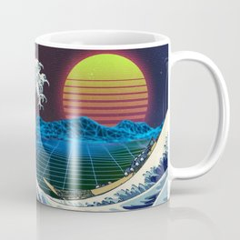 Synthwave Space #9: The Great Wave off Kanagawa Coffee Mug