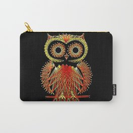 String Art Owl Carry-All Pouch