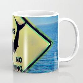 Shark,no swim Coffee Mug