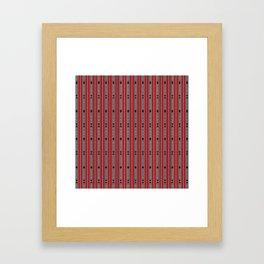 ethnic weave vertical red Framed Art Print