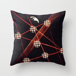 Strands | Musical Crime Productions | Digital Abstract Throw Pillow