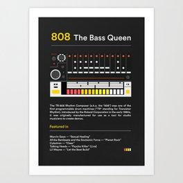 Flat TR 808 Poster Design Art Print