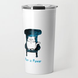Purr is Power  (Blue) Travel Mug