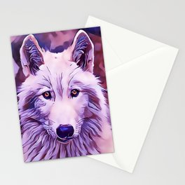 The Arctic Wolf Stationery Cards