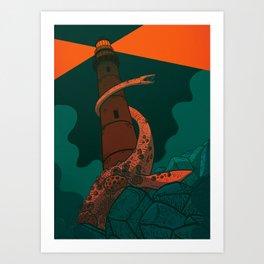 The Fog Horn Art Print