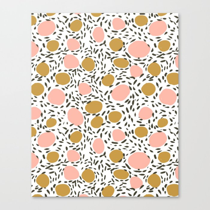 Pebbles cute pattern gender neutral dorm college abstract design minimal modern earth nature Canvas Print