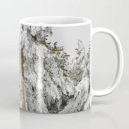 """Ghost forest"". Square.  After the snowstorm Coffee Mug"